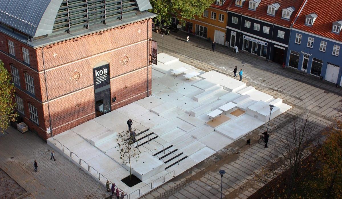 KOS Urban Art Museum plaza, birdview