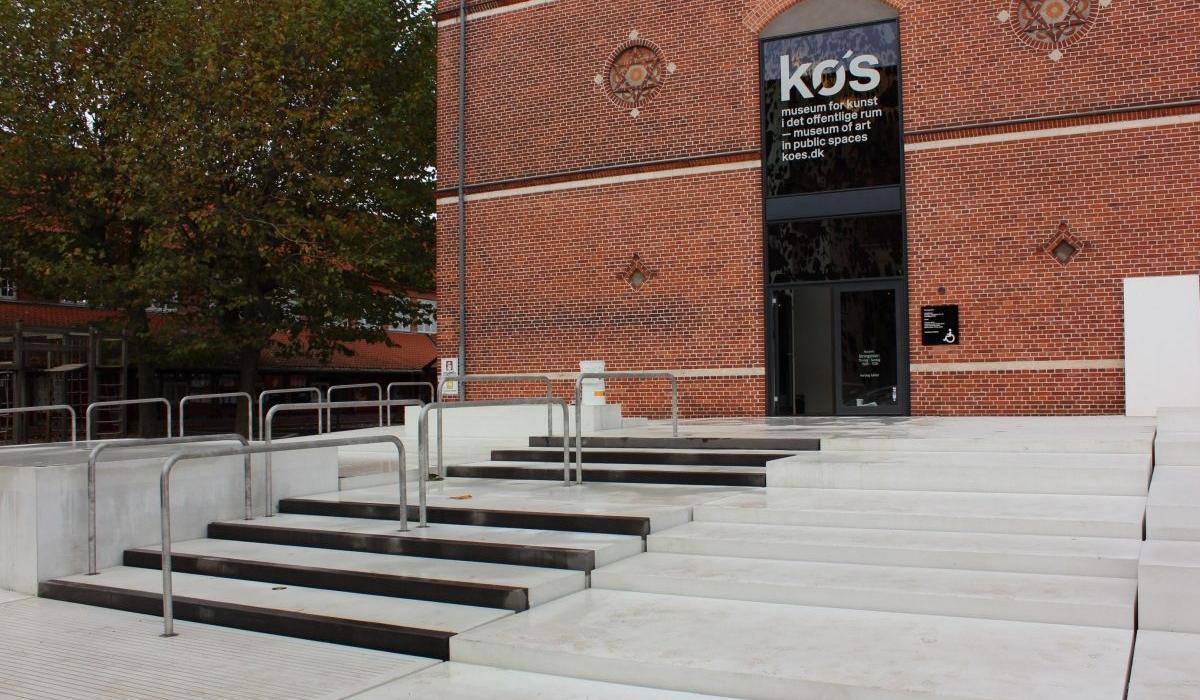KOS Urban Art Museum plaza, stairs