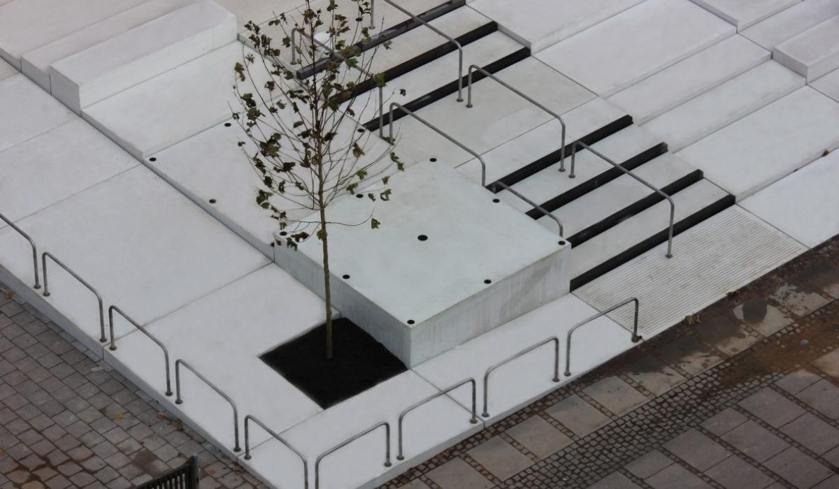 KOS Urban Art Museum plaza, detail of birdview