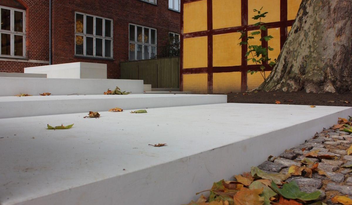 KOS Urban Art Museum plaza, detail