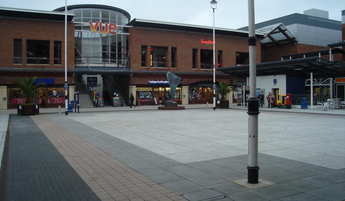 Portsmouth VUE shopping center plaza