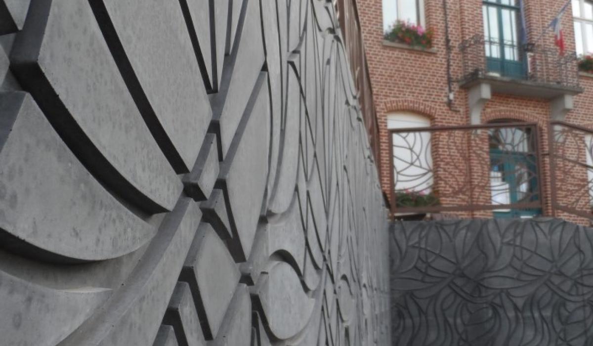 Detail retaining wall Sebourg