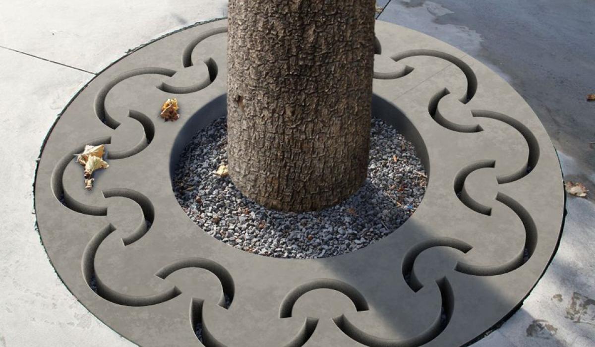 Tree grate Moonshine grey