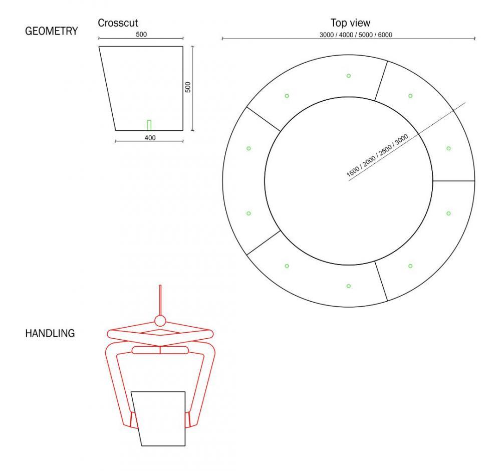 Bench Circular Urbastyle