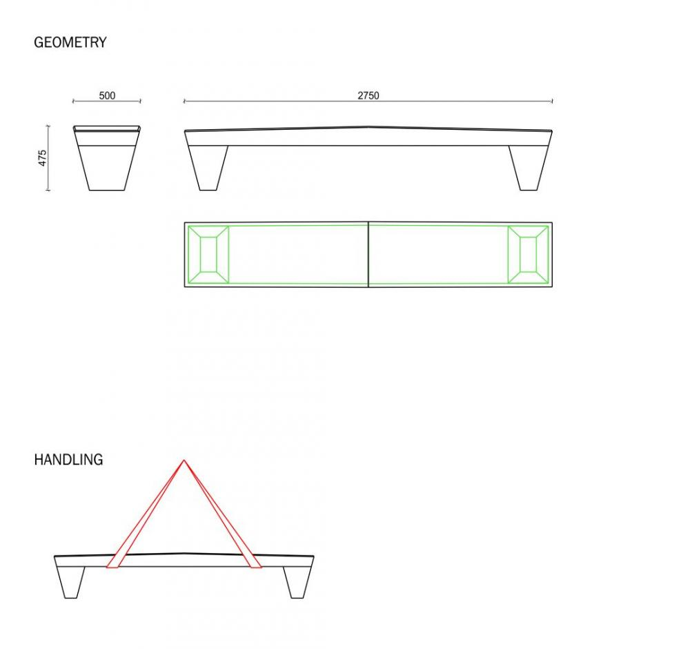 Green Alley bench plan