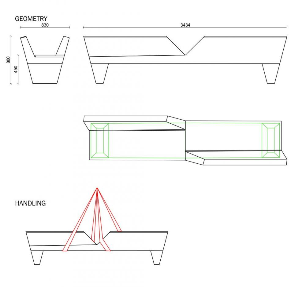 Green Alley bench duo plan