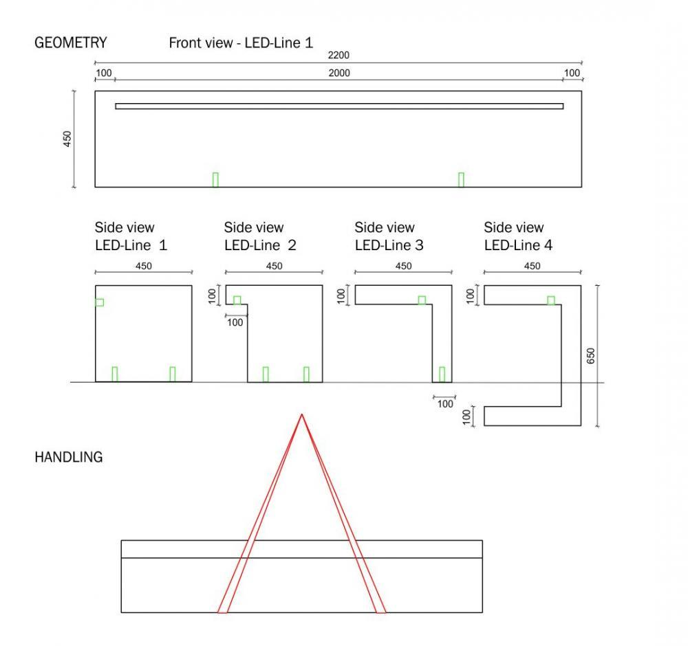 Plans banc LED Line