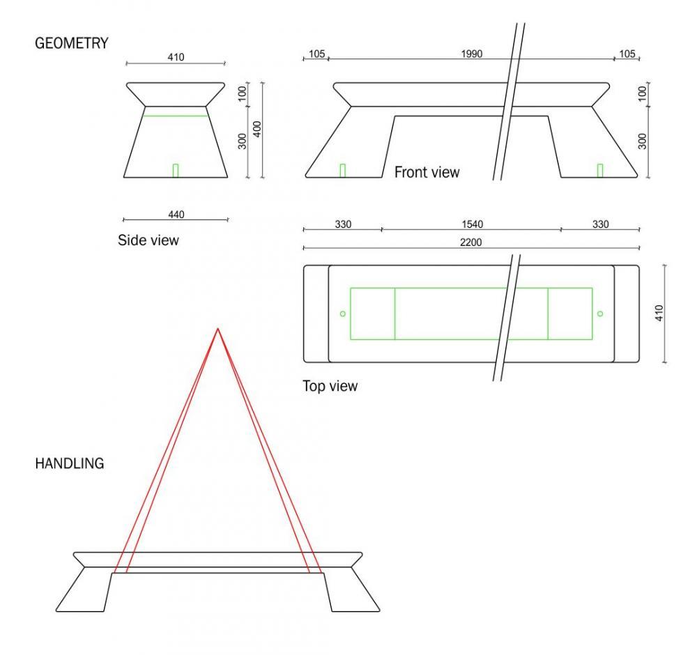 Plan Bench Solid Block