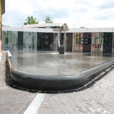 Ternat city hall fountain
