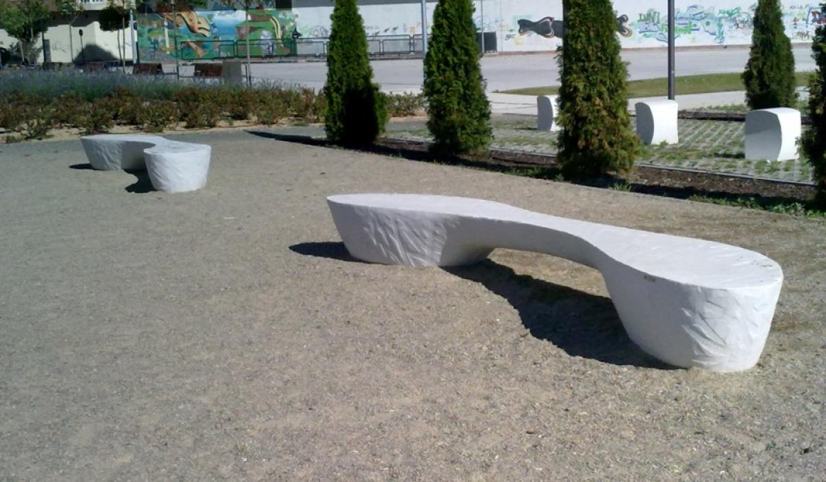 Cityscape bench