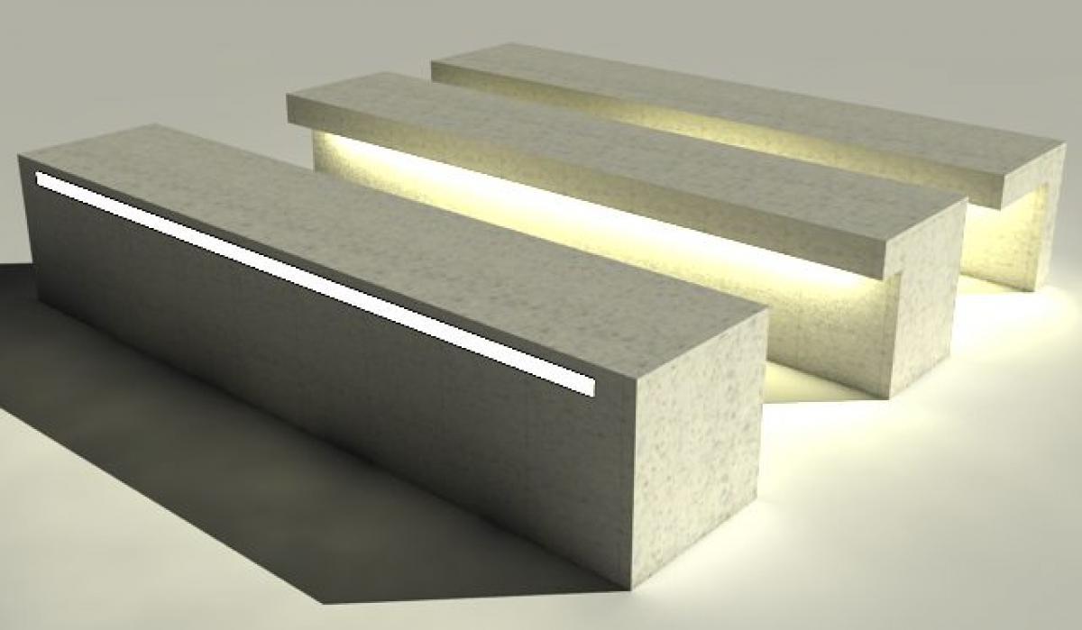 Led Light Bench : Bench led line urbastyle