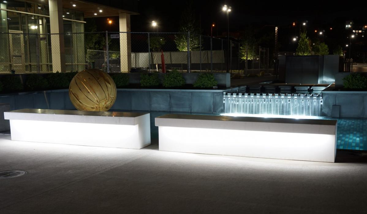 LED benches, Nashville, Tennessee, USA