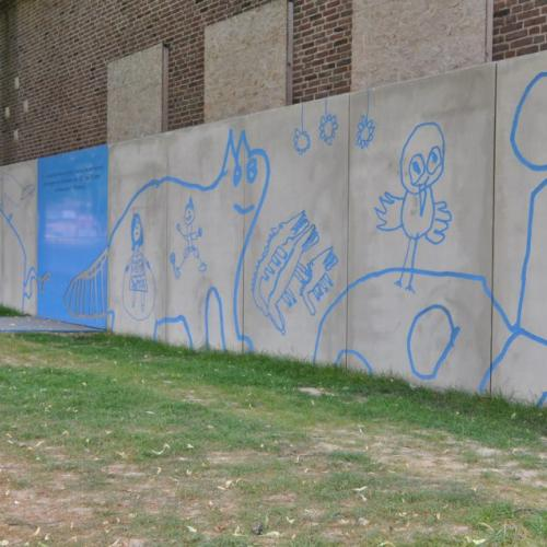 Heerlen wall designed by kids