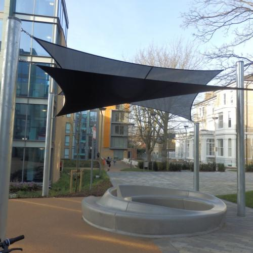 In & Out bench for Kings College Champions Hill London