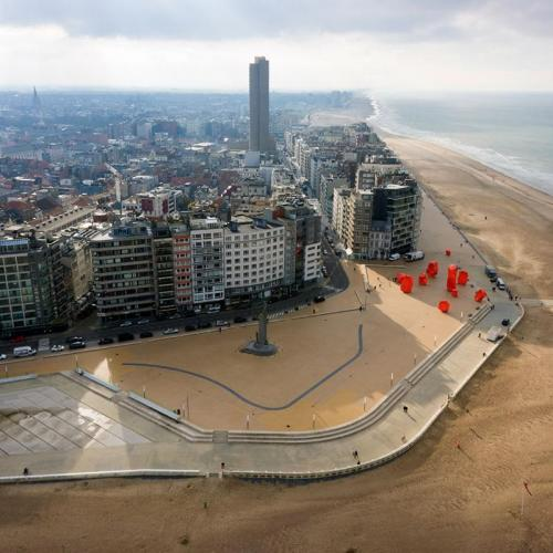 Ostende Zeeheldenplein Birdview