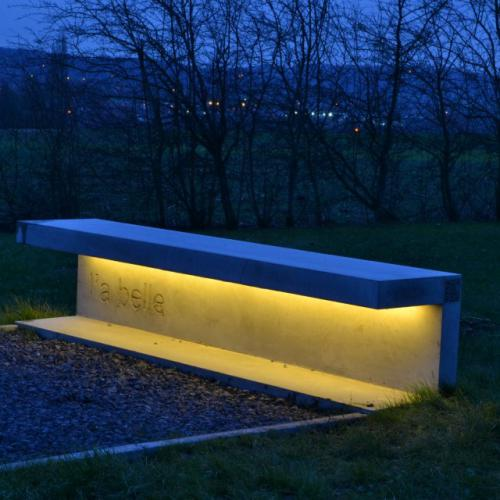 Abele customised LED bench