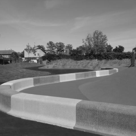 Playground with bench Playround