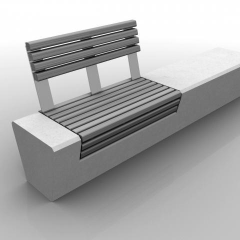 Bench Wood-Line Straight