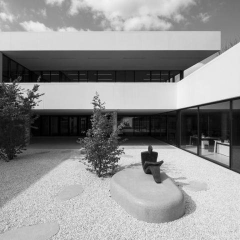 Béton architectonique - Centre culturel et bibliothèque, Zaventem, BELGIQUE
