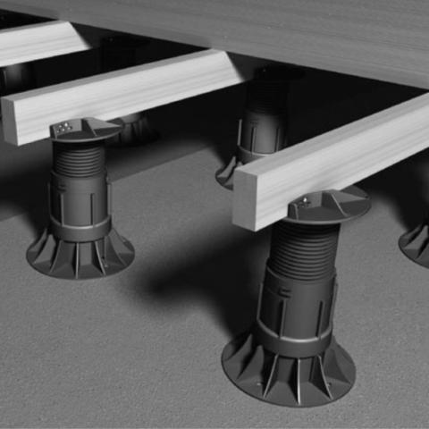 RYNO DECK Self-levelling adjustable decking pedestal
