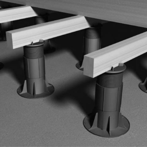 RYNO DECK Fixed head adjustable decking pedestal