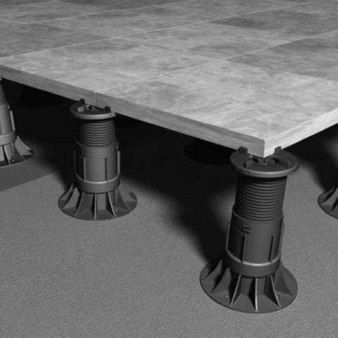 RYNO PAVE Self-levelling adjustable paving system pedestal