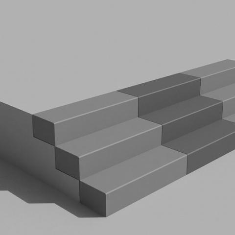 Steps in architectural concrete